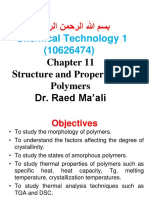 Structure and Properties of Polymers 11