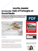 Millennial-Favorite Jeweler Talks Coronavirus Furloughs on Instagram – WWD