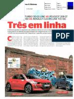 "RENAULT CLIO TCe 130 R.S. LINE FRENTE AO OPEL CORSA E PEUGEOT 208 NA ""CARROS & MOTORES"""