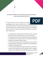 Recomendaciones dirigidas a la poblacion general para el cuidado de los adultos mayores durante la pandemia de COVID 19.pdf