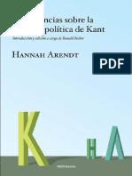 14- Arendt - Conferencias sobre la filosofia política De Kant (Tercera conferencia).pdf