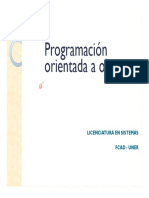 Programación Orientada a Objetos Clase 13