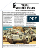 WarHammer 40K [extra] Trial Vehicle Rules