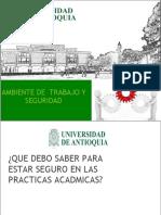AMBIENTE DE TRABAJO Y SEGURIDAD