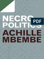(Theory In Forms) Achille Mbembe, Steve Corcoran - Necropolitics-Duke University Press (2019).pdf