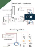 Circuito de luz alta y baja común { jse.pptx