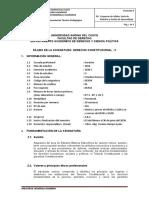 SILABO DERECHO CONSTITUCIONAL -II 2020-I