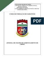 Apostila gerenciamento crises CFS 2019