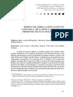 Reseña de D_ Días sobre el libro de I_Molina