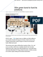 Nidec's $900m green bond to fund its EV-motor ambitions