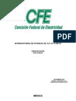 CFE-V5100-01 Interruptores de potencia de 72.5 kV a 420 kV