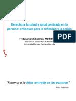01. Derecho a la salud y salud centrada en la persona enfoques para la reflexión y la acción. F Canchihuaman