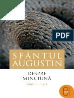 (SURSE CLASICE) Sfântul Augustin (Aurelius Augustinus) - Despre minciuna-Editura Humanitas (2016).pdf