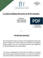-2- Le statut juridique des ports en droit comparé. (modèle, impact économique, responsabilité des intervenants, évaluation du pour et le contre de chaque régime)