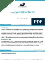Statique des cables - Presentation