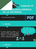 PERSONALIDAD JURÍDICA DE LA SOCIEDAD