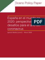 Policy Paper Espana en Mundo 2020 Perspectivas Desafios Coronavirus