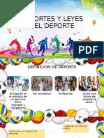 DEPORTES Y LEYES DEL DEPORTE.pptx