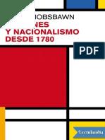 Naciones y Nacionalismos desde 1780 - Eric Hobsbawm