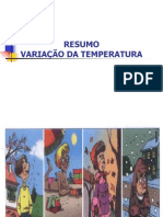 Resumo Variao Da Temperatura