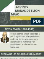TEORÍA DE LAS RELACIONES HUMANAS DE ELTON MAYO (Valentina Arciniegas Sanchez).pptx