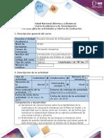 Guía de actividades y rúbrica de evaluación - Tarea 3 - Reconocieminto de perfil del licenciado