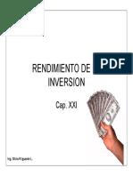 Cap. 27 Rendimiento de la Inversión