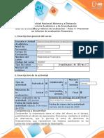 MAT. FINANCIERA - Guía de actividades – Paso 4 – Presentar un informe de evaluación financiera