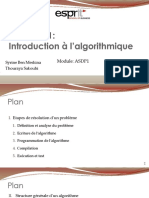 1- Introduction à lalgorithmique