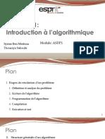 1- Introduction à lalgorithmique