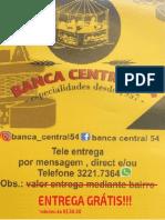 BANCA CENTRAL - TABELA PRECOS - TELE ENTREGA