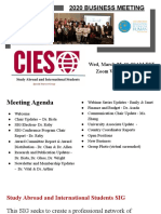 CIES-Study Abroad and International Students SIG Board Meeting, March 25, 2020