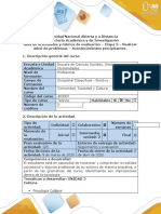 Guía  Etapa 3 Realizar árbol de problemas – Acontecimientos precipitantes.