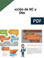 Redacción de NC y Observaciones