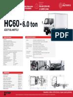 Ficha Técnica - Ficha Técnica HC60 – 6 Toneladas Chasis Corto