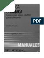 Quimica Organica - Fundamentos Teoricos Practicos - Laboratorio - Galagovsky
