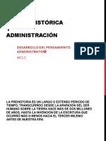 PREHISTORIA  Y ADMINISTRACION