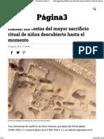 Hallan Los Restos Del Mayor Sacrificio Ritual de Niños Descubierto Hasta El Momento