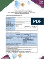 Guía de actividades y Rúbrica de evaluación- Pre- tarea - Actividad de Reconocimiento