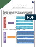 Guía 2- propiedades de la materia 4 básico