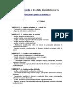 159 Analiza Economico Financiara a Activitatii Unei Firme - Www.lucrari-proiecte-licenta.ro