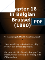 Chapter 16 Rizal's Life Brussels