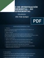 Ejemplo Investigacion Experimental Y No Experimental UAGRM