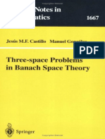 (Lecture Notes in Mathematics 1667) Jesús M. F. Castillo, Manuel González (auth.) - Three-space Problems in Banach Space Theory-Springer-Verlag Berlin Heidelberg (1997).pdf