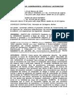 Contrato de Compraventa Vehículo Automotor2020