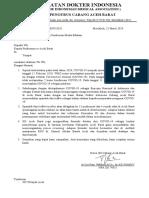 Surat Pemberitahuan IDI Aceh Barat
