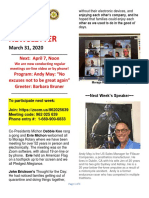 Moraga Rotary Newsletter March 31 2020