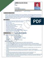 HSE officer Manjoor Resume 08.05.17