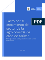 Pacto por el crecimiento del Sector de la Agroindustria de Caña de Azúcar