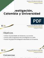 U0 - 1 -  Investigación en Colombia